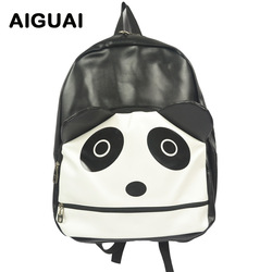 wholesale Free shipping hot on sale 2012 high quality cute cartoon panda women man backpacks discount designer school bags f279(China (Mainland))