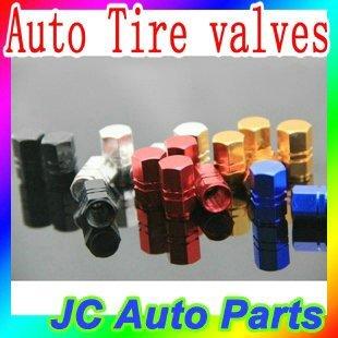 Free shipping 4PCS/Set Colorful Universal Aluminum Alloy Car Tire Valve Caps,Auto Tire valves,Car Accessories
