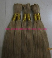 "16""18""20""22""24""26"" remy human hair braids human Hair Bulk Braiding Hair # 16 dark honey blonde 100g/pc 5pcs/lot DHL FREE"