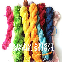 27Meter1mm Chinese Knotting Thread Cords Macrame Rattail Nylon Beading   16 color optional   YX001