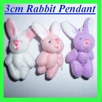 Wholesale 50pcs/Lot H=3cm Plush Joint Rabbit Pendant For Key/Car/Cell Mobile Phone/Bag For Christmas Gifts Toys/Dolls