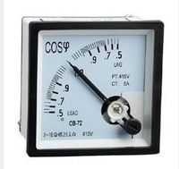 Free shipping!(8pcs) AC Analog COS& Meter Current Amp Ammeter 96*96mm Panel meter