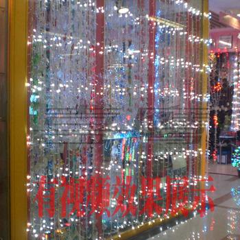 wedding background layout led string lights/Running water led string light