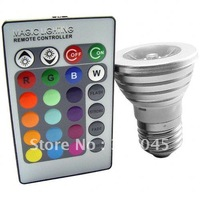 Free Shipping Hot selling LED Color Changing Light Bulb with Wireless Remote