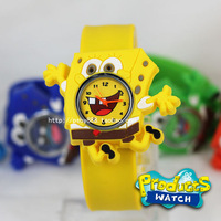 SpongeBob Cartoon Kids Watch Promation Fashion Silicone Jelly Wristwatches Mixed Colors New Year Gifts