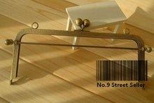 Track Ship+5pcs/lot DIY Purse 20cm Bronze Square Metal Purse Frame Handle for Bag Sewing Craft Tailor Sewer(Hong Kong)