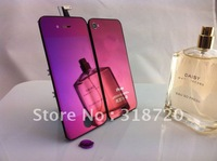New Purple Mirror Plating LCD & Digitizer Touch Assembly + Rear Back Door Housing for iPhone 4 A021