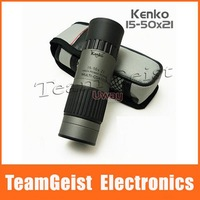 Gray Japan KENKO 15-50X21 High Powered Zoom Pocket Golf Monocular Telescope Binocular & Gleam Night Vision