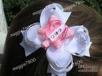 """4.5"""" Baby hair bows + hair clip set Girls' Hair Accessories Baby hairs clip hairbow grosgrain ribbon bows A377"""