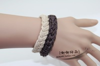 Accessories handmade hemp rope knitted male hand ring brief female bracelet