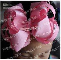 "Wholesale - 5"" Sweet Girls' Hair Accessories Baby hair bows Baby hairs clip grosgrain ribbon bows A375"