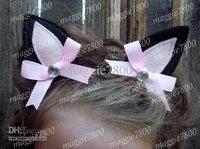Custome Halloween Christmas bows Kitty Cat felt Hair clips Girls' Boutique Hair Clip handmade A395