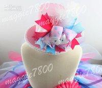 Mini Top Hat Girls Birthday Hat Christmas hat Costume baby hat hair bows headband A371