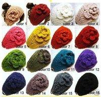 free shipping hot sale fashion newest -Handmade knitted headband& Flower headbands (20pcs moq) mix color History: Feedbacks