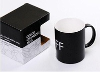 DHL EMS Free shipping OFF-ON Color Change Cup Magical Mug Switch Temperature Sensing Novelty Gift 325ml