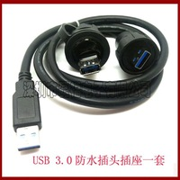 aviation plug aviation  connector LFUSB3.0 waterproof usb connector  mini usb connector industrial connector IP67 1M CABLE