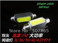 Festoon LED Reading Light 12V 31mm/36mm/39mm 3W LED Car Auto Interior Tail-box License Plate Bulbs
