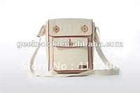 Freedom bag ,cotton white shoulder bag