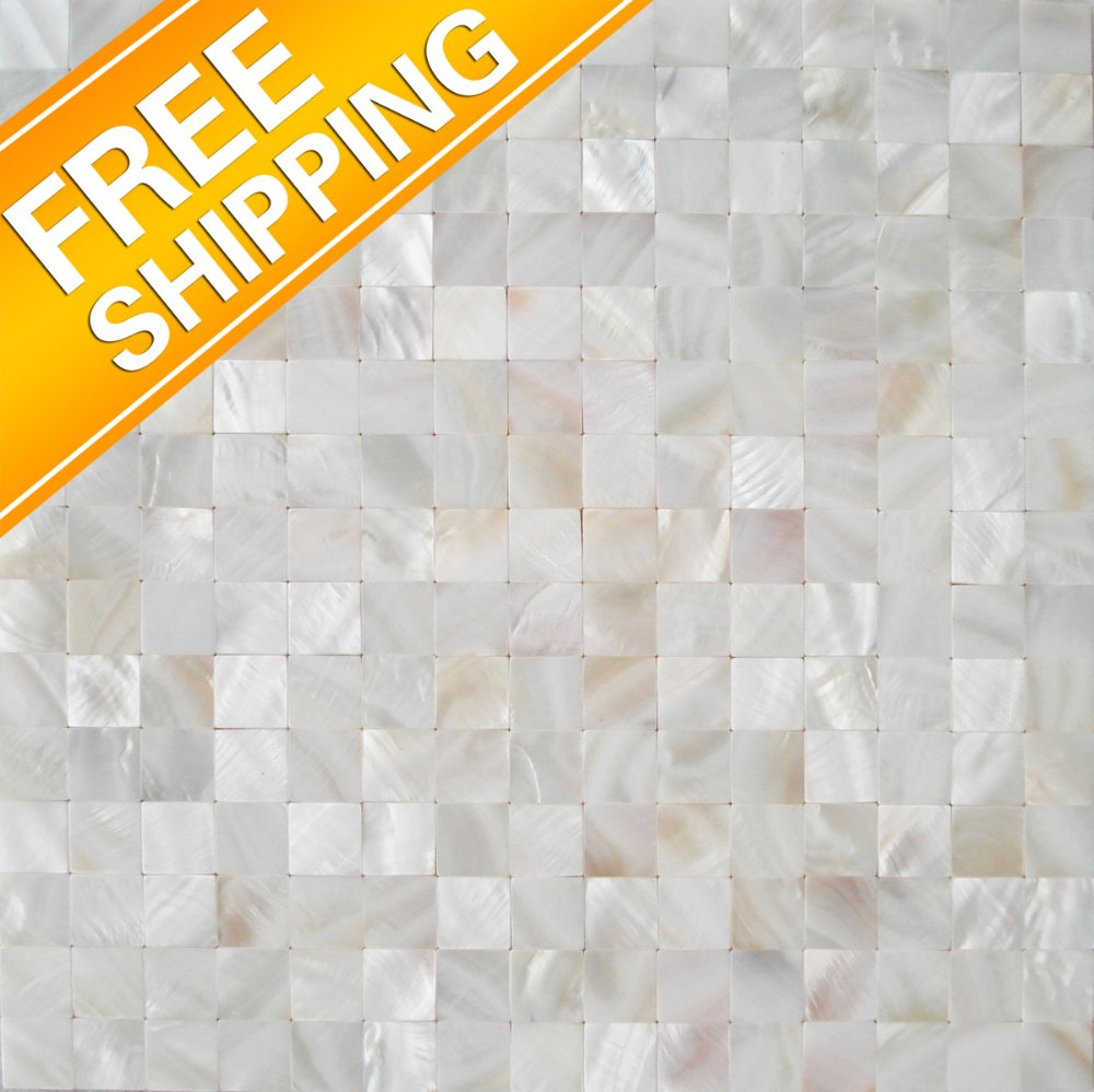 Free shipping Nature shell tile 4/5 x 4/5 In. chips covering 1 sq.ft Nature Shell splendid Mother Of Pearl Tile-EST020(China (Mainland))