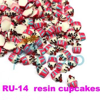 100pcs 3D Nail Art Resin Cupcakes Perfect Nail Art Decorations Acrylic Nails Decoration #RU-14 SKU:D0099