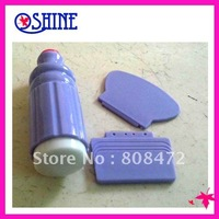 New Silica gel Nail Art  XL Stamper+1 Plastic scraper+1 Metal scraper  for Nail Art Stamp Stamping Plate