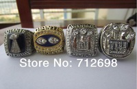 1986 1990 2007 2011 NEW YORK GIANTS SUPER BOWL RING REPLICA CHAMPIONSHIP RING 11 SIZE 4PCS DHL/EMS Free shipping