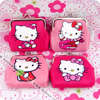 Hot Selling 2014 New Arrivals Pink Hello Kitty Wallet Cartoon Coin Purse Coin Case Small Purse,Free Shipping