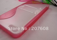 200PCS/Lot Wholesale S Line Stand Hard Cover PC+TPU Case For iPhone 5