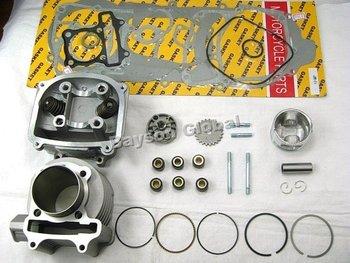 57.4mm Big Bore Kit Cylinder Head Piston Rings Scooter QMJ/QMI152 QMJ/QMI157 GY6 150cc Engine(66mm Valve) @87824