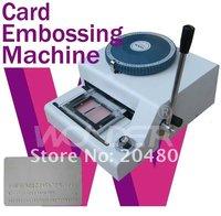 Manual 70 code Embossing Machine magnetic ID PVC Card Embosser
