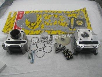 60cc Big Bore Kit Cylinder Head Piston Rings Scooter QMB139 GY6 49cc 50cc Engine(64mm Valve) @87864