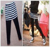 1175 m plus size plus size plus size clothing 2012 new arrival spring stripe skirt legging