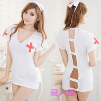sexy lingerie, under Wear, night skirt, Pure nursing uniforms game uniforms temptation piece set