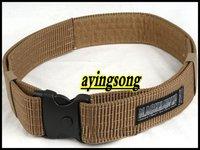 Tactical sling mens stock /  NEW  Military style BlackHawk nylon webbing belt  (sand)