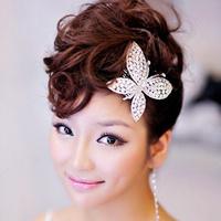 Free Shipping! Butterfly wedding Handmade Rhinestone Bridal hair accessories/ Bridal hair pin/ wedding accessory ,QXL007