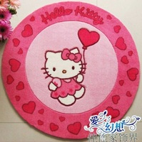 Free shipping ,Cartoon hello Kitty carpet, door mat, 100% acrylic ,Double cotton complex bottom,Hands balloon design