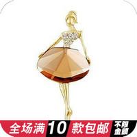 Accessories princess ballet girl fashion elegant big gem brooch
