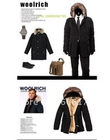 Woolrich men's Arctic Anorak Parka man down feather jacket black top quality free shipping