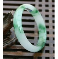 Burma jade wave flower bracelet 57-62 mm