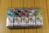 Free Shipping! 20 pcs/lot Rilakkuma Headphone for MP3 Players Cute Bear Earphone for Kid Cartoon Kuma 6 Color Retail Box Packing