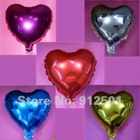 HOT SALE ! 100pcs/lot Free shipping 10inch  Foil balloons Heart Shape  balloons Wedding /Party decoration