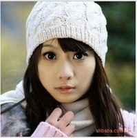 [Vic] 10pes/lot women's Ribbed Beanie Keep warm hat skull cap ski knit M016, Free shipping