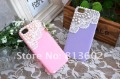 Free Ship DHL! NEW Purple Pearl lace Hard Cover Skin case For iphone 5 , 40pcs/lot
