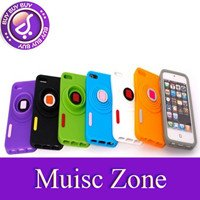 Free Shipping 10Pcs/Lot Stereo Camera Shape Silicone Case with Phone Holder for iPhone 5 case for iphone5