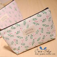 Zakka canvas female storage bag cosmetic bag debris bag