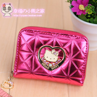 New arrival hello kitty rose fanghaped card holder HELLO KITTY credit card bag women's