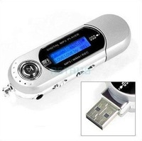Free shipping!!! Dropshipping!  muilt language New USB MP3 Player with FM,voice record,build in 2GB memory 20 pcs/lot