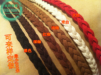 Diy velvet threefolded knitted spirally-wound style multi-layer pendant leather cord bracelet 1 meters