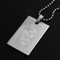 Accessories fashion titanium male boys personality necklace pendant stainless steel