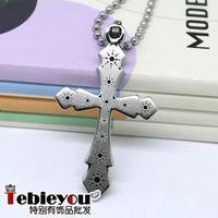 Titanium cross boys necklace titanium accessories titanium steel pendant fashion boys necklace